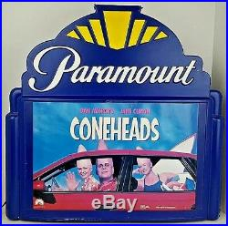 Vtg Paramount Pictures Illuminated Marquee Cone Heads Movie Poster Light Up Sign