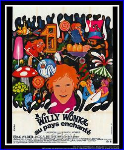 WILLY WONKA 4x6 ft Vintage French Grande Movie Poster Original 1971