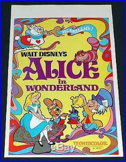 Walt Disney's Alice in Wonderland Vintage Promo Window Card Unused R 7498