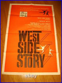 West Side Story Vintage Original 1sh Movie Poster 1962 Natalie Wood