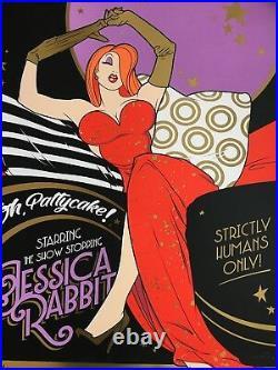 Who Framed Roger Rabbit 42/50 Sexy Movie Poster Art Print Jessica SDCC mondo vtg