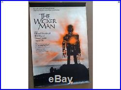 Wicker Man U. K. Vintage film cinema movie advertising poster quad art 007 1973