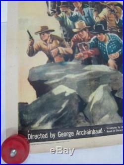 William Boyd Hopalong Cassidy 41x79 Movie Poster 1943 Texas Masquerade Western K