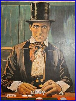 William S Hart The Cold Deck Cowboy Movie Poster Western 1916 Film Vintage