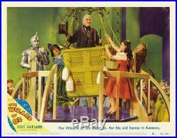 Wizard of OZ, Original Vintage Movie Poster Lobby Card balloon 1939