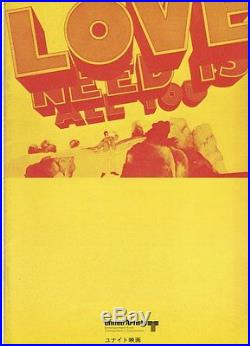 YELLOW SUBMARINE The BEATLES Japanese movie program #1 Vintage 1969 NEAR MINT