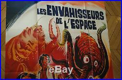 Yog Monster From Space French 1p'70 Original Vintage Theatrical Folded Sci-fi